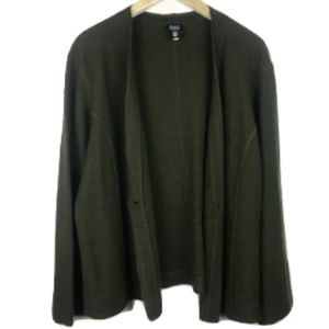 Eileen Fisher Wool Olive Green Cardigan
